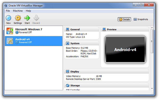 Virtual Box Emulator