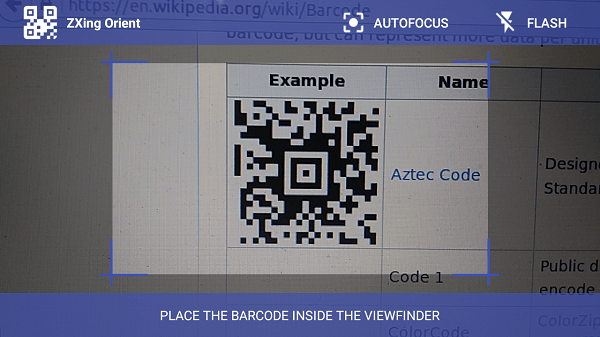 Android Barcode Scanner Library